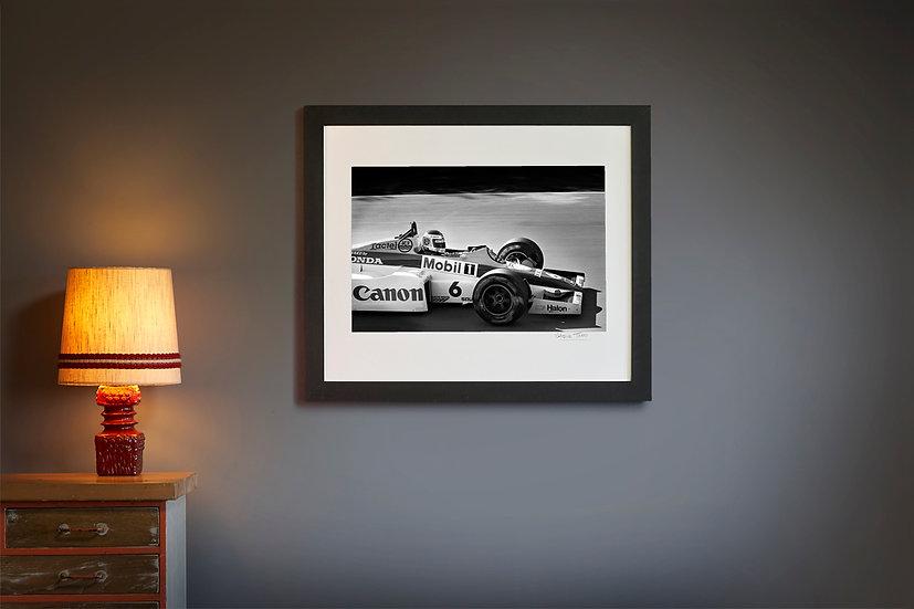 Keke Rosberg Williams side on 1985