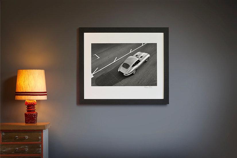 E Type Jaguar Pit Lane