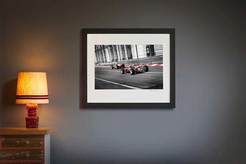 Ferrari F1512 and DeTomaso Monaco Historique
