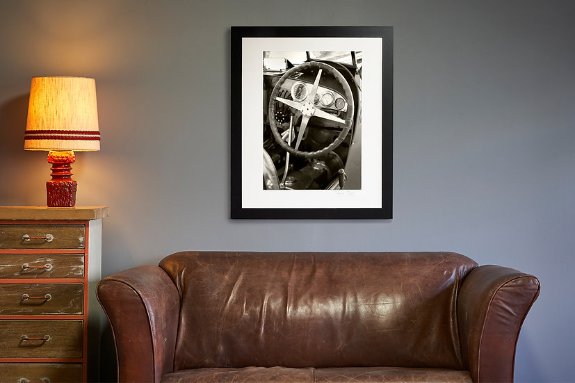 Vintage Bugatti Cockpit