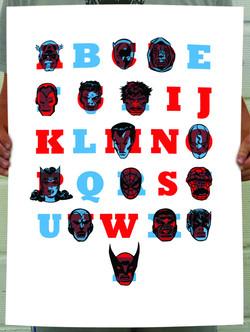 Marvel Alphabet Poster Design