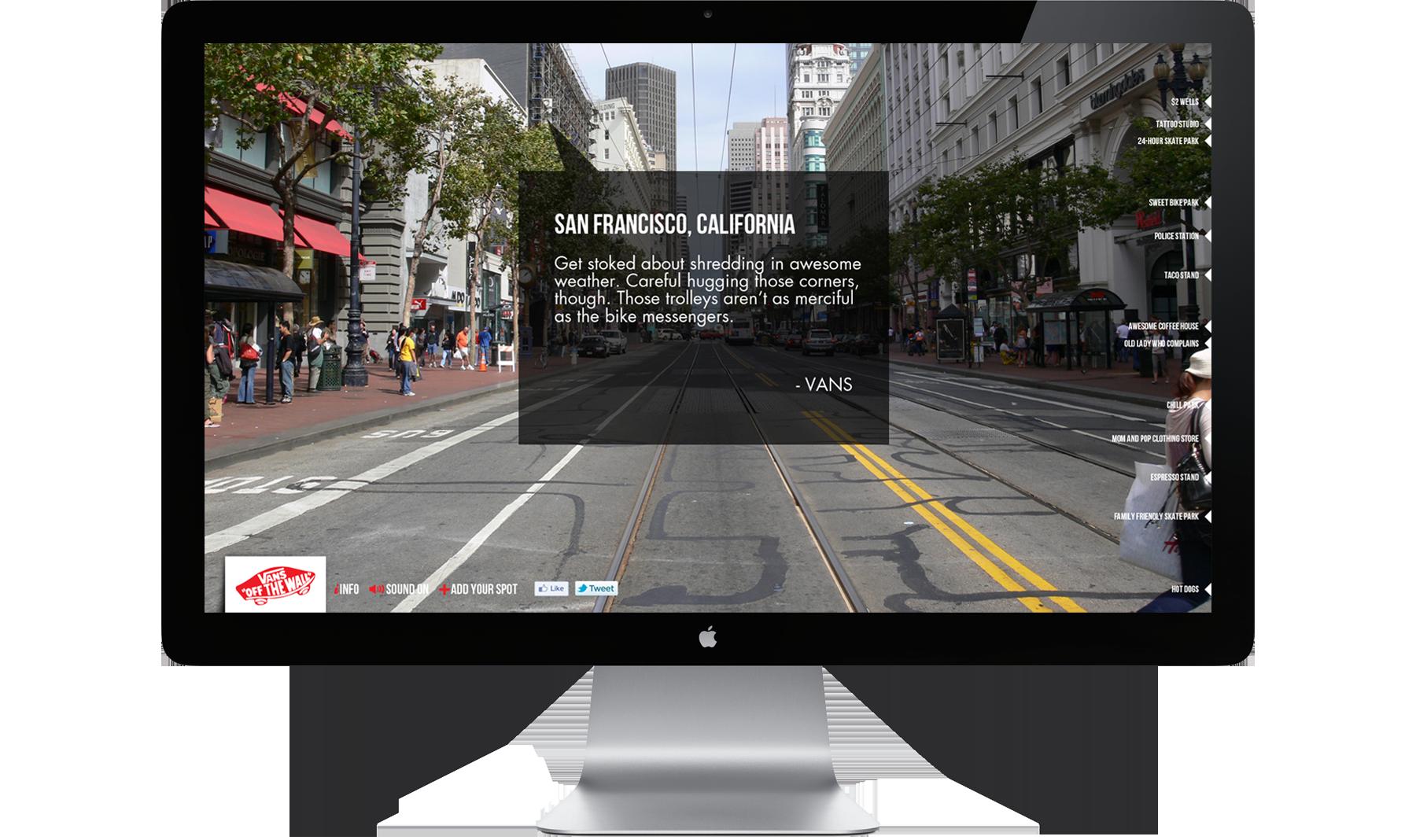 VANS Microsite Homepage