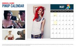 Bombshell Blonde Pinup Calendar