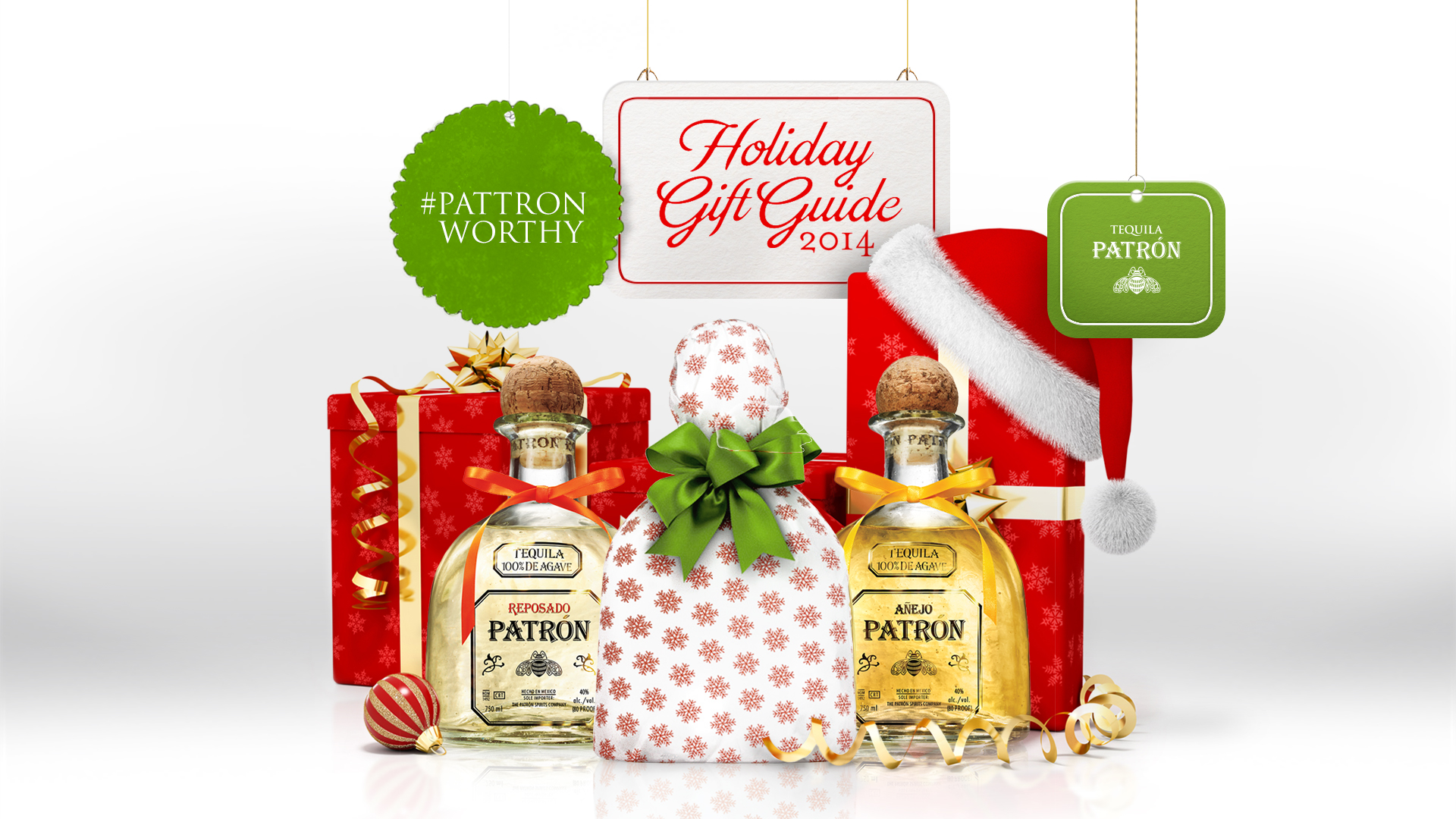 Patron Holiday Title Card