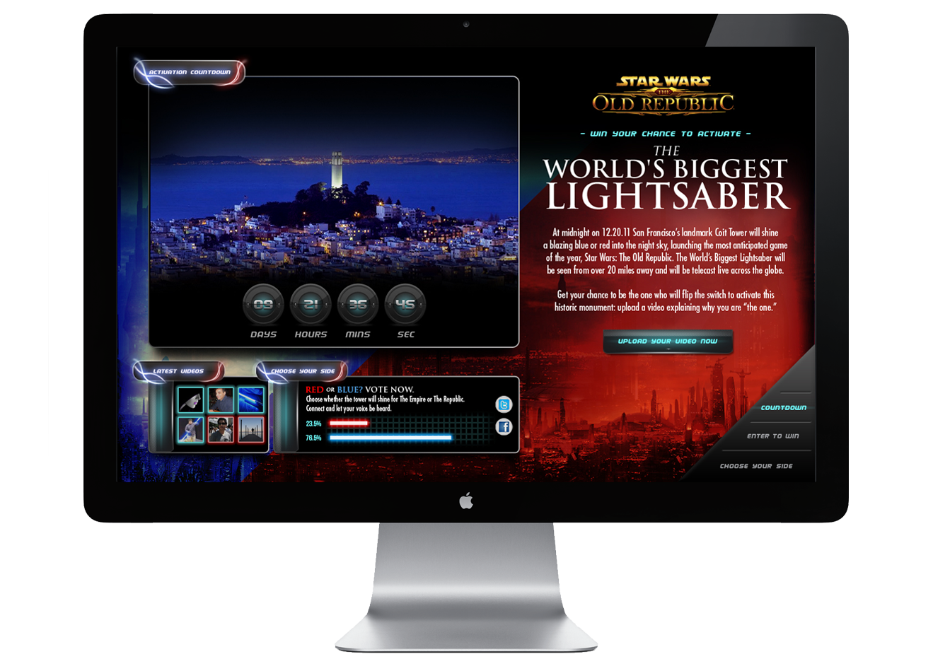 Star Wars TOR Microsite Homepage