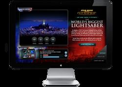 Star Wars TOR Microsite Homepage