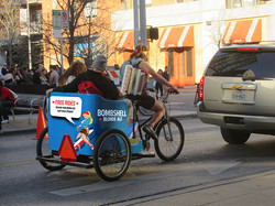 Bombshell Blonde Pedicab
