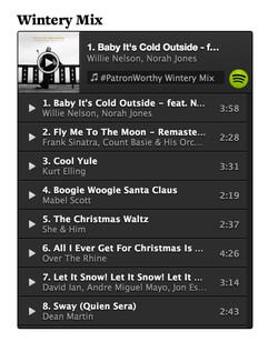 Patron Playlist Wintery Mix