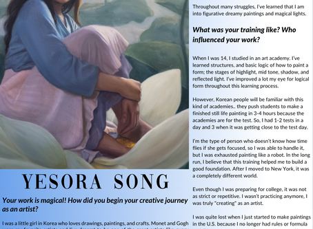 Exclusive Interview with Artist Yesora Song