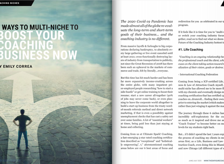 6 Ways to Multi-Niche to Boost Your Coaching Business Now (Six Figure Coaching Magazine Feature)