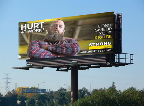 Workman's Comp Billboard Campaign-Strong Law