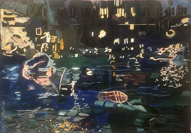 Au bord de la Seine, 112-157cm, huile, 2