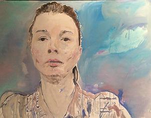 Autoportrait 97-130 cm huile sur toile 2