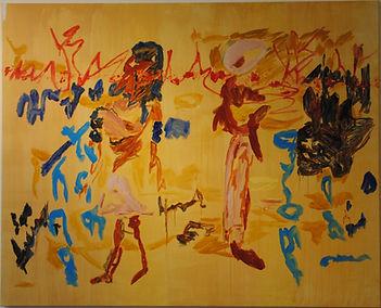 Imaginaire égyptien,125-150cm, huile et acrylique sur toile