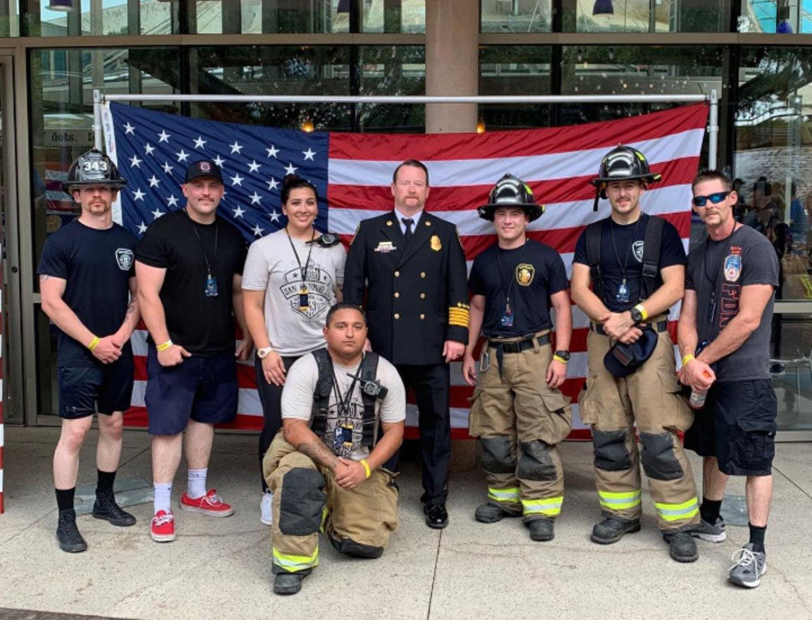 District 5 personnel at the 9/11 Ceremony