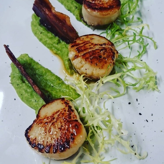 Scallops The coppleridge inn shaftesbury