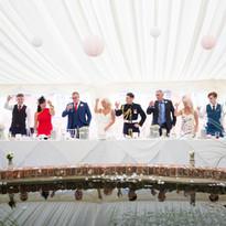 Marquee Wedding at The Coppleridge Inn | Head Table | Pond