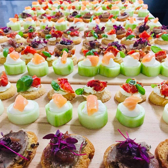 Canapes at The Coppleridge Inn