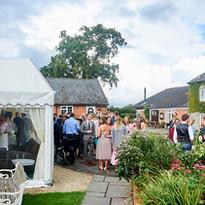 Courtyard at The Coppleridge Inn | Wedding | Arrival Drinks