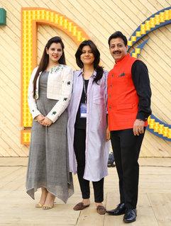 Palka Grover (Luxury President), Diksha Khanna (Fashion Designer) & Gaurav Grover (Founder & Chairman)