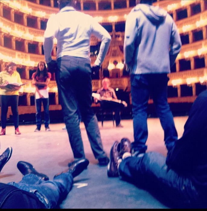 Staging Rehearsal in Naples