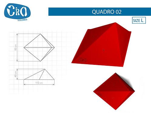 Накладной каркасный рельеф для скалолазания CRIO HOLDS QUADRO 02