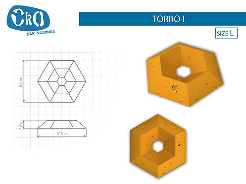 Рельеф каркасный накладной для скалолазания CRIO HOLDS TORRO I
