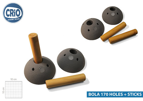 BOLA 170 HOLES + STICKS