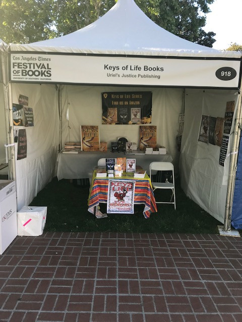 We signed books at the festival