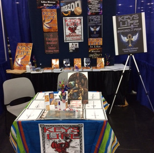 Our booth at Comicpalooza