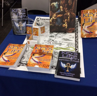 Our booth at Comicpalooza 2018