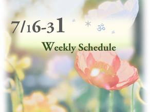 週間スケジュール**7/16-31