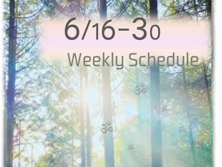 週間スケジュール**6/16-30