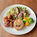 Fried Soy Chicken Lunch Set | ヴィーガン大豆チキン唐揚げランチセット