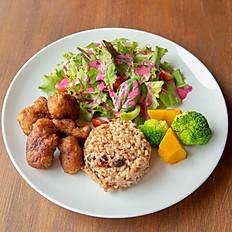Fried Soy Chicken Lunch Set   ヴィーガン大豆チキン唐揚げランチセット