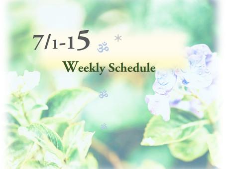 週間スケジュール**7/1-15