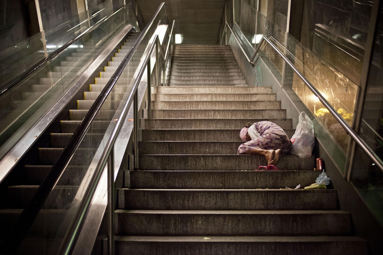 Homeless woman in São Paulo