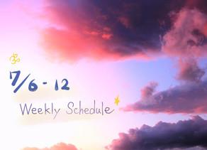 週間スケジュール**7/6-12