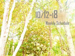 週間スケジュール**10/12-18