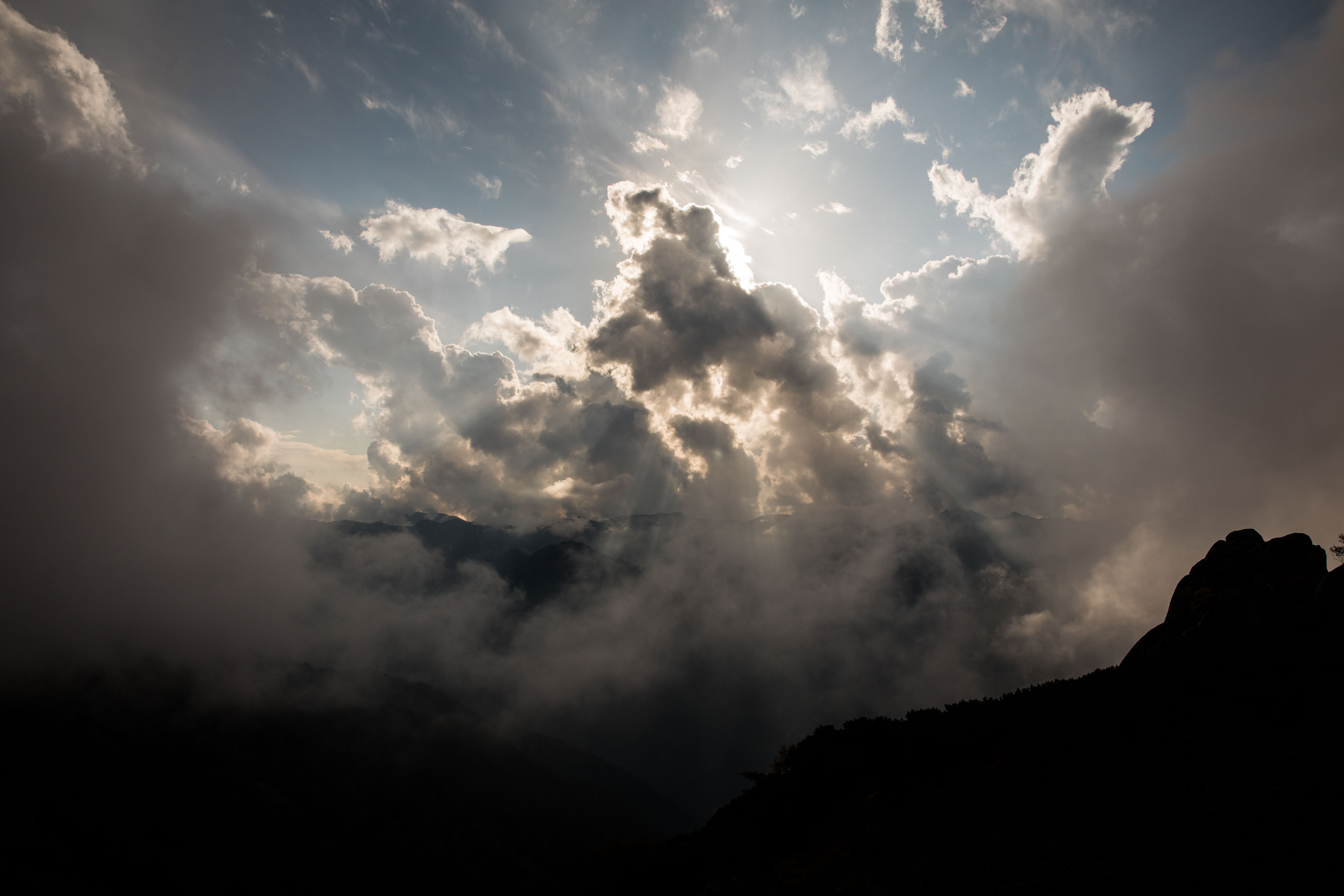 Devine clouds and light, Japan Alps
