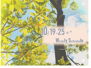週間スケジュール**10/19-25
