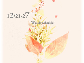 週間スケジュール**12/21-12/27
