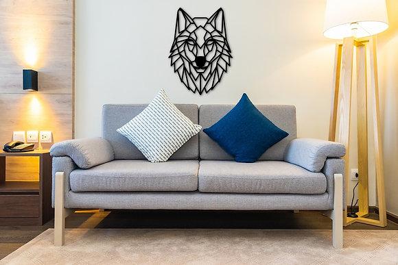 Kurt Metal Duvar Tablosu - Wolf Wall Art