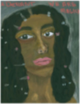 """""""Solange,_ 2016 -  I was inspired to paint this portrait after listening to """"A Seat at the Table.jpg"""