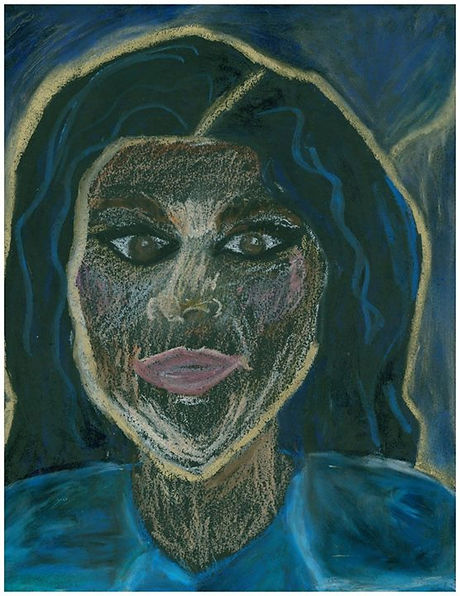"""""""Blue and Bourgeois,"""" 2016 - This is a portrait of my cousin Tina, best friend and one of the few bl"""