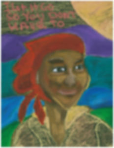 """""""Granny,"""" 2016 - This is my other great grandmother, Granny.  I felt strongly the message of this pa"""