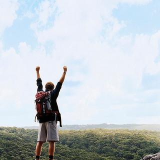 Triumphant Hiker
