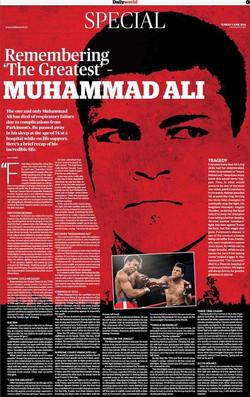 Remembering The Greatest - Muhammad Ali.
