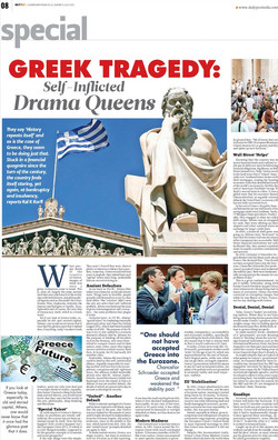 Greek Tragedy - Self Inflicted Drama Que
