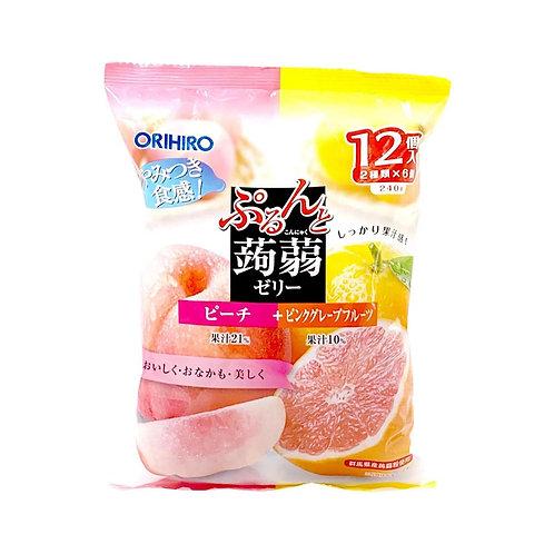 Peach and Pink Grapefruit Konnyaku Jelly 240g